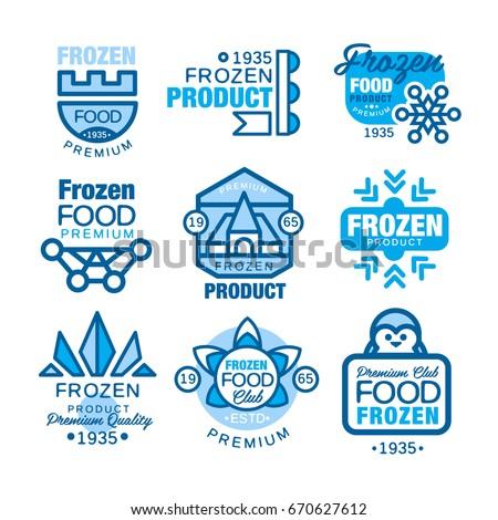Frozen Templates | Frozen Food Product Set Logo Templates Stock Vector Royalty Free