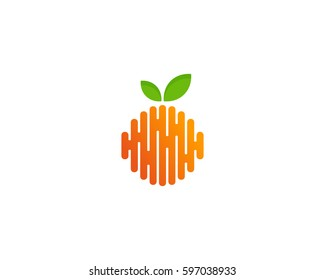 Fruit Abstract Logo Design Element