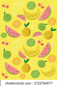fruit background, fruits and berries