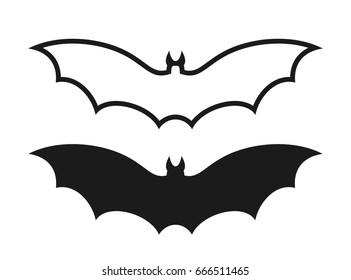 Fruit bat logo. Isolated bat on white background