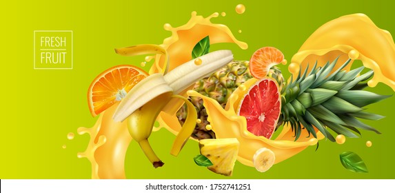 Tropical Juice Images Stock Photos Vectors Shutterstock