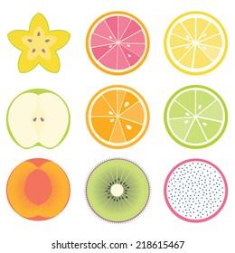 Orange cross section images stock photos vectors shutterstock fruit cross sections starfruit grapefruit lemon apple orange lime malvernweather Images