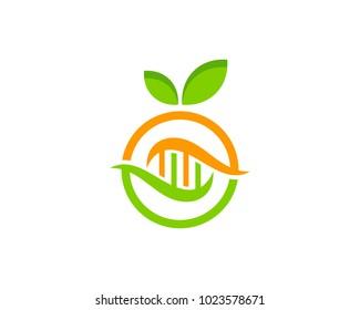Fruit Dna Icon Logo Design Element