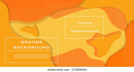 Fruit dynamic background. Orange elements with a liquid gradient. Vector illustration for poster, web, landing, page, cover, ad, greeting, postcard, promotion.