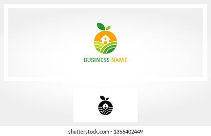 Fruit Farm Garden Barn Logo