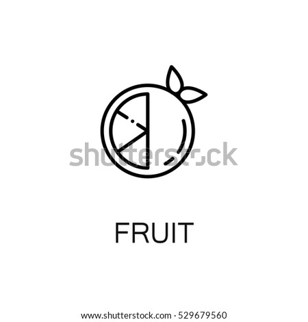 Fruit Flat Icon Single High Quality Stock Vector Royalty Free