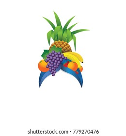 Fruit hat template - vector illustration