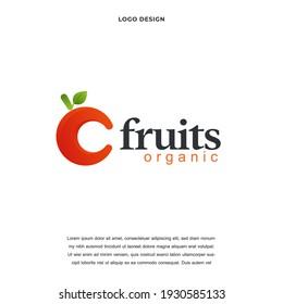 fruit icon logo design vector illustration, Healthy Fresh fruit Creative logo design