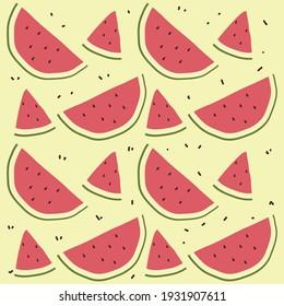 Fruit Illustration Pattern Background Vector