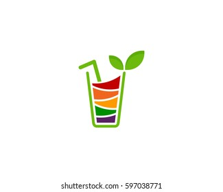 Fruit Juice Logo Design Element