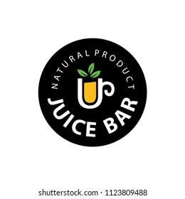 Fruit juice logo. Fresh drink logo