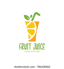 Fruit juice logo. Fresh drink logo