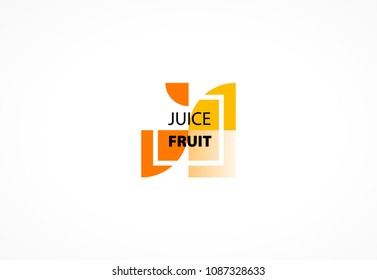 Fruit juice slices logo