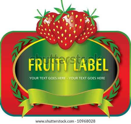 fruit label vector fully resizable editable stock vector royalty