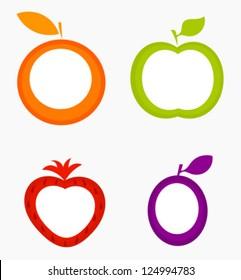 Fruit labels - vector illustration