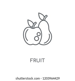 Fruit linear icon. Fruit concept stroke symbol design. Thin graphic elements vector illustration, outline pattern on a white background, eps 10.