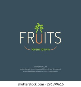 Fruit. The logo and elements for design and illustration.