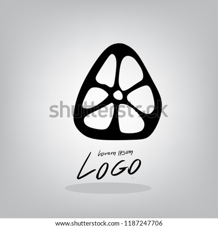 fruit logos draw by hand lemon stock vector royalty free