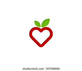 Fruit Love Logo Design Element