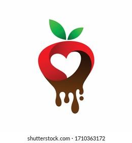fruit lovers vector, strawberry logo design