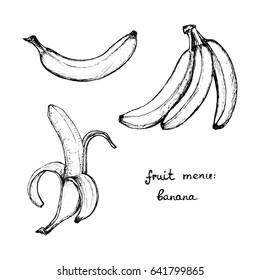 Fruit Menu - Banana - hand-drawn objects