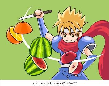 fruit and ninja