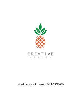 fruit pineapple logo