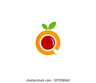 Fruit Search Logo Design Element