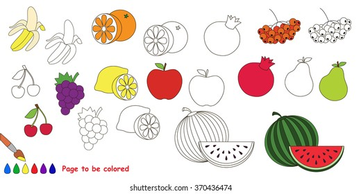 - Fruit Coloring Book Images, Stock Photos & Vectors Shutterstock