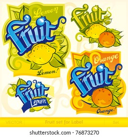 Fruit set for label