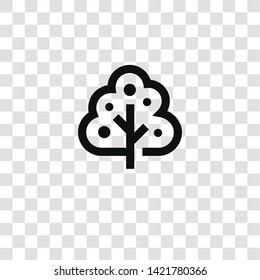 fruit tree icon from miscellaneous collection for mobile concept and web apps icon. Transparent outline, thin line fruit tree icon for website design and mobile, app development