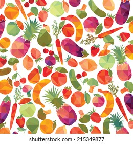 Fruit and vegetables. Vector background
