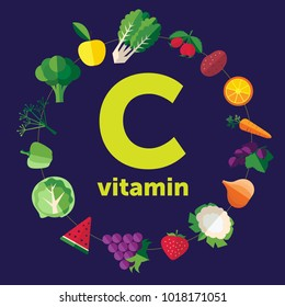 Fruit and vegetables with vitamin C