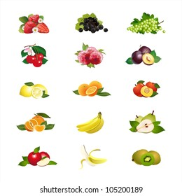 Fruits & Berries icons