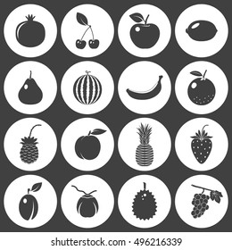 Fruits and berries - icons set