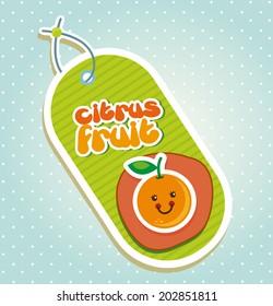 fruits design over  dotted background vector illustration