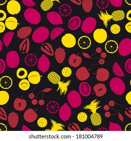 fruits and half fruits color seamless pattern eps10