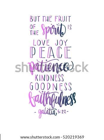 Fruits Happiness Hand Drawn Lettering Bible Stock Vector Royalty Awesome Bible Verses For Happiness