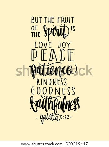 Fruits Happiness Hand Drawn Lettering Bible Stock Vector Royalty Unique Bible Verses For Happiness