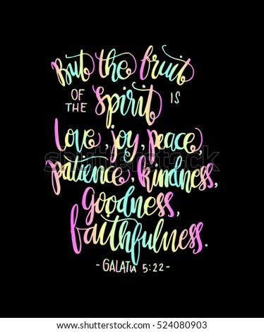 Fruits Happiness Hand Drawn Lettering Bible Stock Vector Royalty Stunning Bible Verses For Happiness