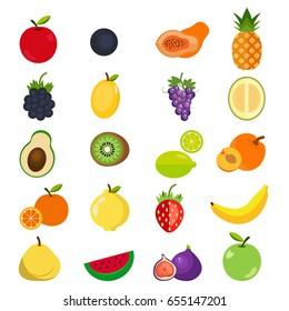 Fruits icon set.