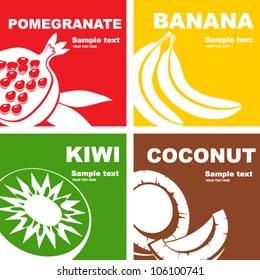 Fruits label design.