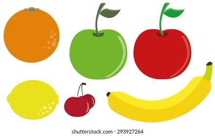 fruits set vector