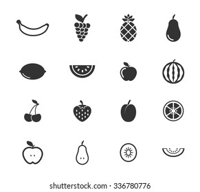 Fruits simply symbols for web icons