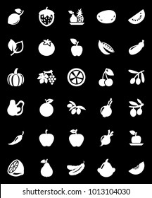 FRUITS VEGETABLES ICONS