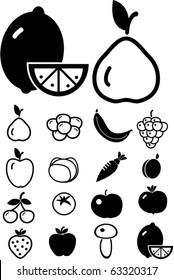 fruits & vegetables. vector