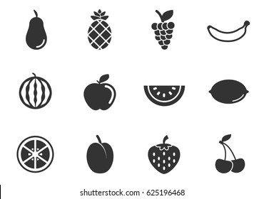fruits web icons for user interface design