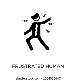 frustrated human icon. frustrated human symbol design from Feelings collection. Simple element vector illustration on white background.