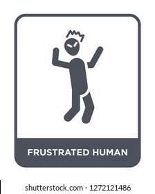 frustrated human icon vector on white background, frustrated human trendy filled icons from Feelings collection, frustrated human simple element illustration