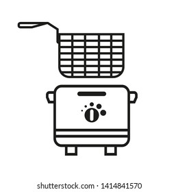 Fryer vector Icon, Deep Fryer  Illustration